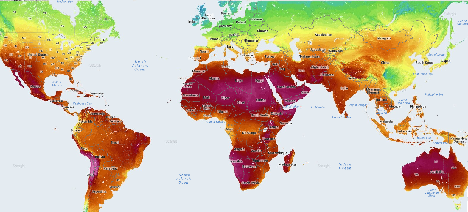 world solar resources