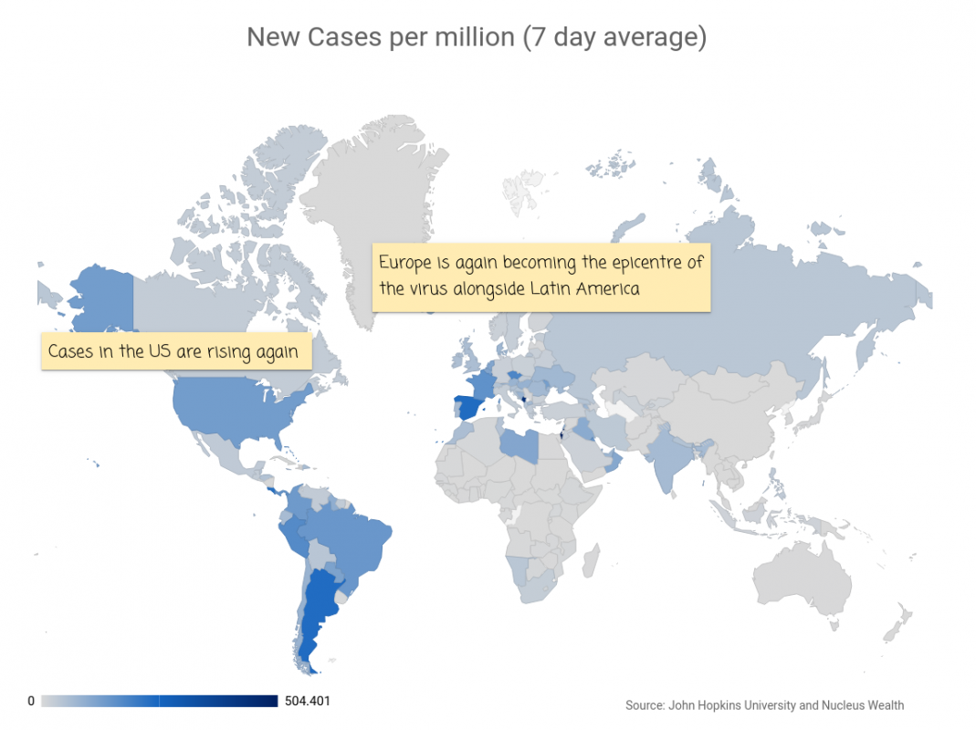 COVID19: Global New Cases Map 20200923
