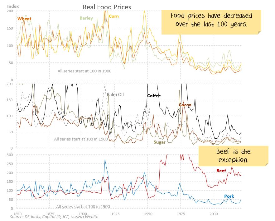 Long term food inflation